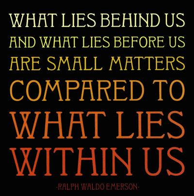 Emerson what lies within quote